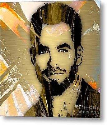 Chris Pine Collection Metal Print
