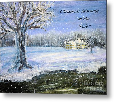 Christmas At The Vale Metal Print by Rita Brown