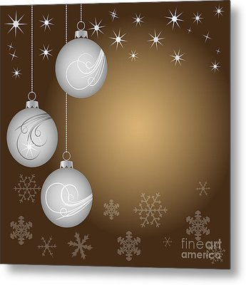 Christmas Background Metal Print by Michal Boubin