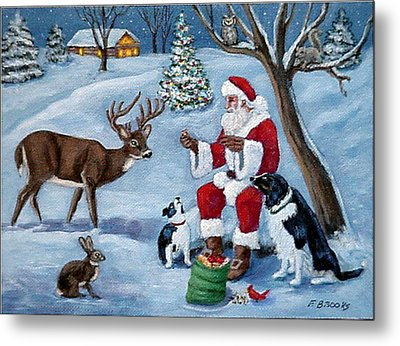 Christmas Treats Metal Print by Fran Brooks