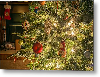 Metal Print featuring the photograph Christmas Tree Ornaments by Alex Grichenko