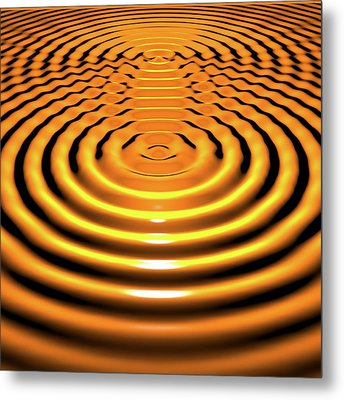 Circular Wave Interference Metal Print by Russell Kightley