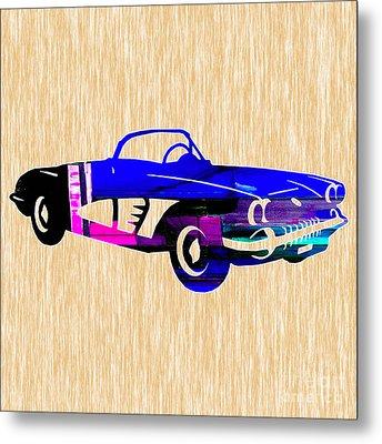 Classic Corvette Metal Print by Marvin Blaine