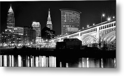 Cleveland Skyline Metal Print by Frozen in Time Fine Art Photography