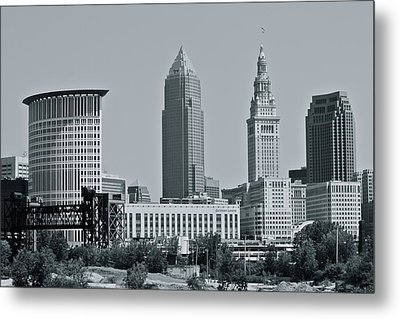 Cleveland Skyline Metal Print by MB Matthews