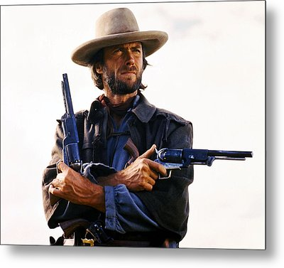 Clint Eastwood In The Outlaw Josey Wales  Metal Print by Silver Screen