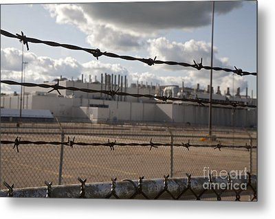 Metal Print featuring the photograph Closed Factory by Jim West