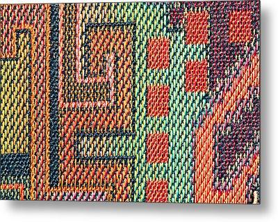 Cloth Pattern Metal Print by Tom Gowanlock