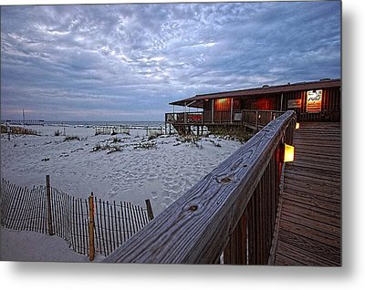Metal Print featuring the painting Cloudy Morning At The Sea N Suds by Michael Thomas