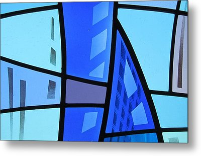 Metal Print featuring the glass art Coal Harbour Triptych Part 1 by Gilroy Stained Glass