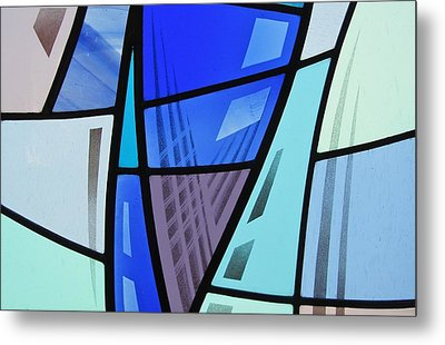 Metal Print featuring the glass art Coal Harbour Triptych Part 2 by Gilroy Stained Glass