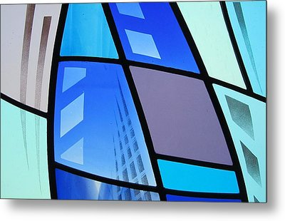 Metal Print featuring the glass art Coal Harbour Triptych Part 3 by Gilroy Stained Glass
