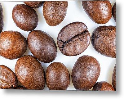 Coffee Beans Detail Metal Print