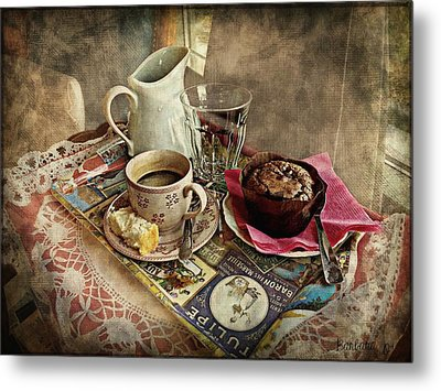 Coffee Time Metal Print by Barbara Orenya