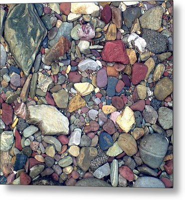 Colorful Lake Rocks Metal Print