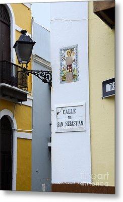 Colorful Old San Juan Metal Print by Birgit Tyrrell
