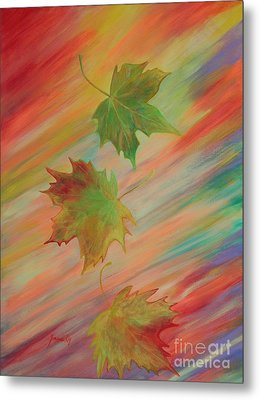 Colours Of Autumn. Inspirations Collection. Metal Print