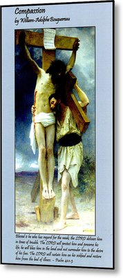 Compassion Metal Print by William Bouguereau