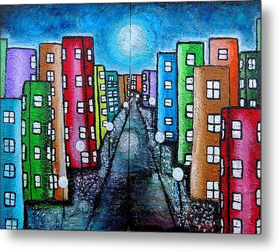 Contemporary City Metal Print