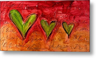 Contemporary Heart Painting Metal Print by Ivan Guaderrama