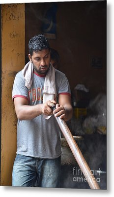 Metal Print featuring the photograph Cooking Breakfast Early Morning Lahore Pakistan by Imran Ahmed