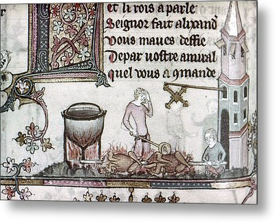 Cooks, 14th Century Metal Print by Granger