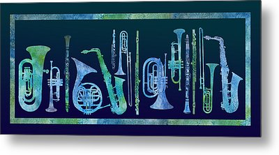 Cool Blue Band Metal Print by Jenny Armitage