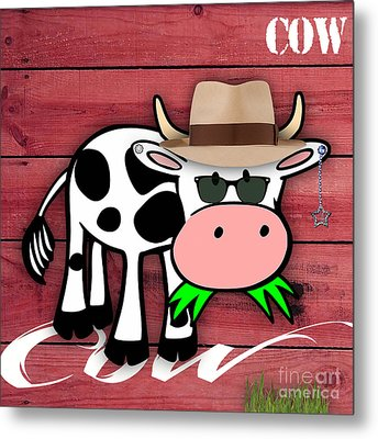 Cool Cow Collection Metal Print by Marvin Blaine