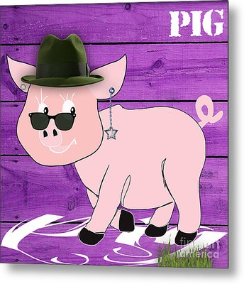 Cool Pig Collection Metal Print by Marvin Blaine