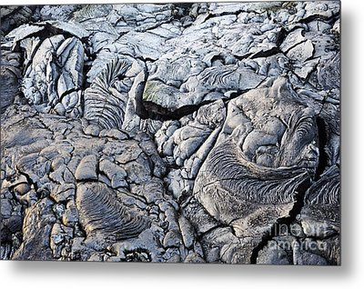 Cooled Pahoehoe Lava Flow Metal Print by Sami Sarkis
