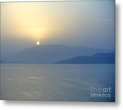 Corfu Sunrise Metal Print by Sarah Christian