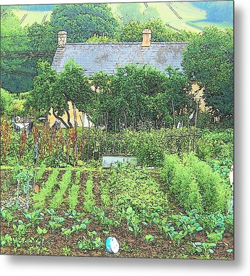Country Cottage Metal Print by Jan Matson
