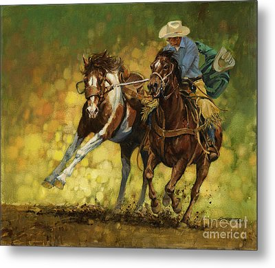 Rodeo Pickup Metal Print by Don  Langeneckert