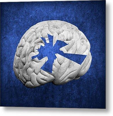 Damaged Human Brain Metal Print