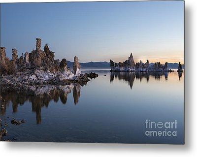 Dawn On Mono Lake Metal Print by Sandra Bronstein