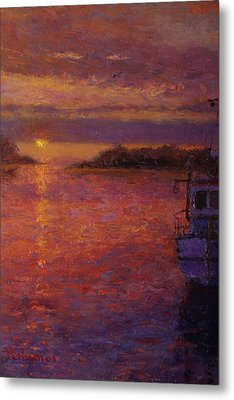 Daybreak Riverton Metal Print