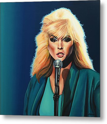 Deborah Harry Or Blondie Painting Metal Print by Paul Meijering