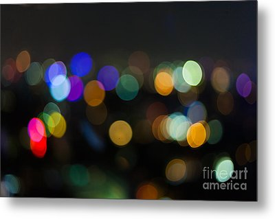 Defocused Lights Metal Print by Fototrav Print