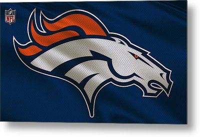Denver Broncos Uniform Metal Print