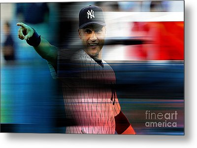 Derek Jeter Metal Print by Marvin Blaine