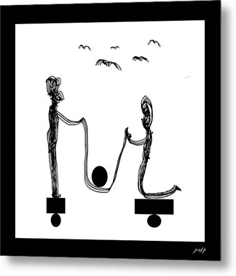Desequilibre Metal Print by Sir Josef - Social Critic -  Maha Art
