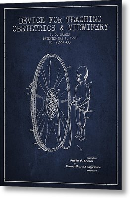 Device For Teaching Obstetrics And Midwifery Patent From 1951 -  Metal Print by Aged Pixel