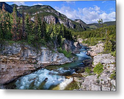 Devils Glen On The Dearborn River Metal Print by Chuck Haney