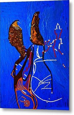 Dinka Embrace - South Sudan Metal Print by Gloria Ssali