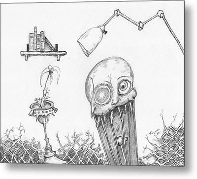 Dollskull Metal Print by Dan Twyman