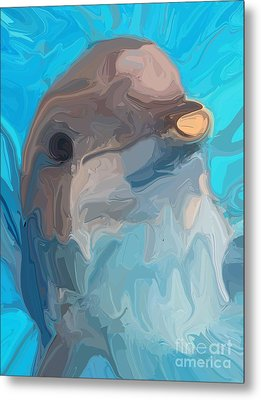 Dolphin Metal Print by Chris Butler