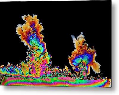 Dopamine Drug Crystals Metal Print by Antonio Romero