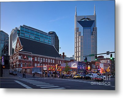 Downtown Nashville Metal Print by Brian Jannsen