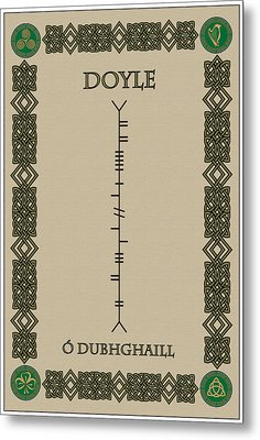 Metal Print featuring the digital art Doyle Written In Ogham by Ireland Calling
