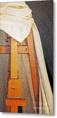 Draped Easel Metal Print